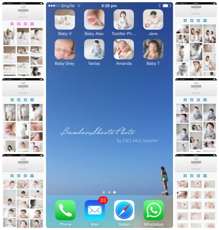 A personalised mobile app powered by BambooShoots Photo