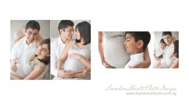 Maternity + newborn photography album