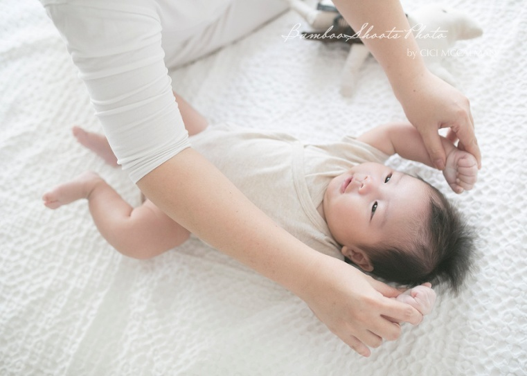 3 month baby photography session is featured on the blog today