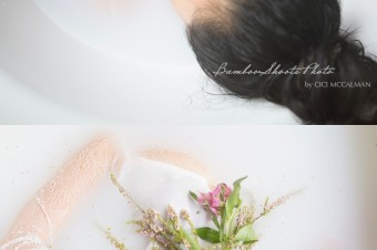 Milk bath boudoir photography singapore